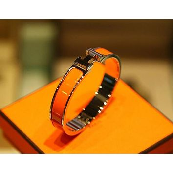 "Hot Sale ""Hermes"" Popular Women Men Personality Bracelet Jewelry Multi-Color Orange I"