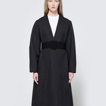 Lemaire / Wrapover Coat in Slate