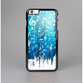 The Dripping Blue & White Music Notes Skin-Sert for the Apple iPhone 6 Plus Skin-Sert Case