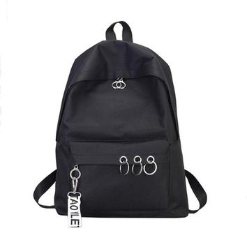 University College Backpack Canvas  Schoolbag Girl Teens School Bag Female Solid Womens   Simple Students Mochila Escolar #442AT_63_4