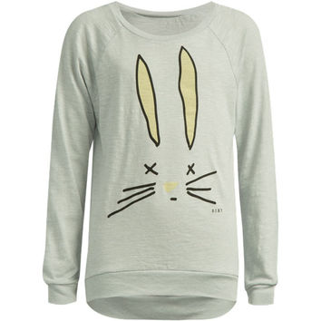 Roxy Love Bunny Girls Tee Heather Grey  In Sizes