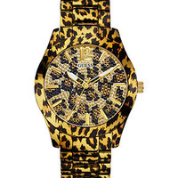 GUESS Watch, Women's Animal Print Stainless Steel Bracelet 40mm U0001L2 - Watches - Jewelry & Watches - Macy's