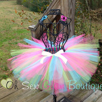Princess Rainbow Shimmer Boutique Tutu