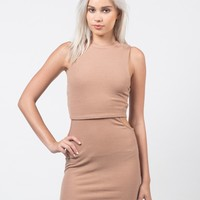Cut Out Ribbed Dress