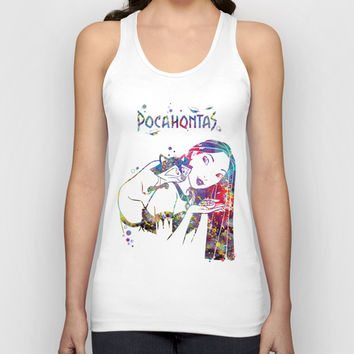 Pocahontas and Meeko Unisex Tank Top by Bitter Moon