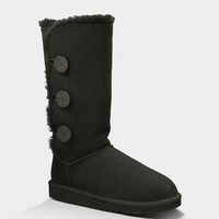 Ugg Bailey Button Triplet Womens Boots Black  In Sizes