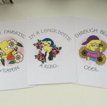 Simpsons 5x7 and 4x6 prints