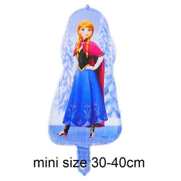 5pc mini size princess anna elsa balloons foil material cartoon anna princess birthday balloons child toys