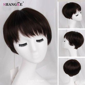 ESBONT Short Brown Hair Wigs Women Natural Synthetic Wigs For Black Women African Americans Heat Resistant Fake Hair 6 Colors