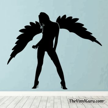Sexy Angel Pin-Up Girl Wall Decal #00010