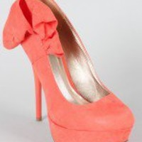 Qupid Neutral-212 Bow Stiletto Pump