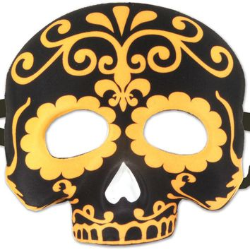 Day of the Dead Half Mask Case Pack 12