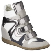 Women's Xhilaration® Kahsha High Top Wedge Sneaker - Grey