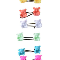 Teddy Bear Hair Ties - Pastel
