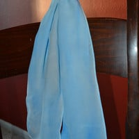 Sun-Dyed Blue Silk Scarf