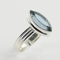 Alexandrite Marquise Sterling Silver Ring