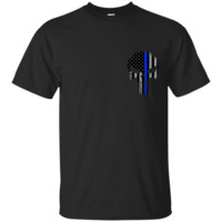 Police Punisher Thin Blue Line Custom Ultra Cotton T-Shirt
