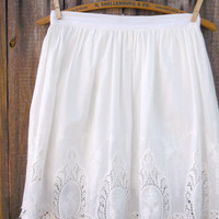 White Scattered Eyelet Skirt [7318] - $25.60 : Feminine, Bohemian, & Vintage Inspired Clothing at Affordable Prices, deloom