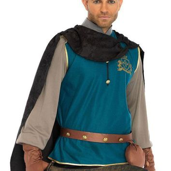 CREYI7E 4PC.Storybook Prince,shirt,cape,studded belt,and gloves in MULTICOLOR