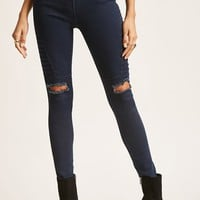 Distressed Moto Jeggings