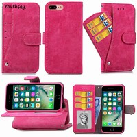 Youthsay For Cover iphone 8 Plus Case TPU & Scrub Leather Wallet Phone Cover For Apple iphone 7 Plus Case For Fundas iphone 8