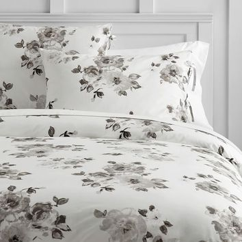 Junk Gypsy Country Blooms Duvet Cover + Sham, Ivory