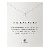 dogeared 'reminder friendship smooth anchor' dainty necklace in sterling silver