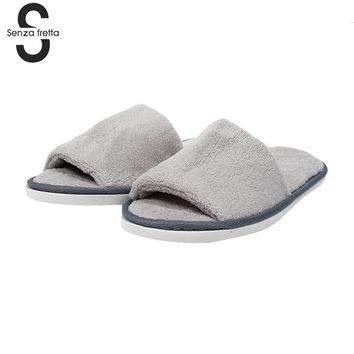 Non-disposable Home Indoor Slippers Thick Soles Hotel Slippers Soft And Comfortable Slippers 29*10 cm  WS152