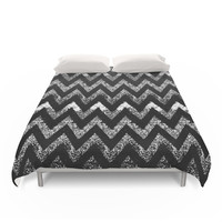 Society6 Life In Black And White Duvet Cover