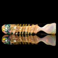 Gold Fumed Spiral Chillum