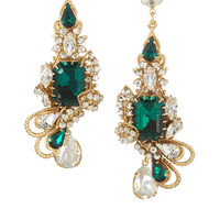 Bijoux Heart | Empire gold-plated Swarovski crystal earrings | NET-A-PORTER.COM