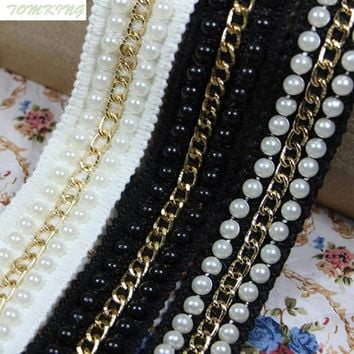 25mm, 1in Gold Lace Trim Metal Chain Decoration Trimming Accessories