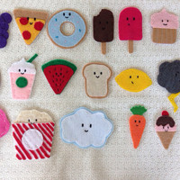 Felt Food shaped Magnets by TheIgnoredMiddle on Etsy