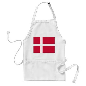 Apron with Flag of Denmark