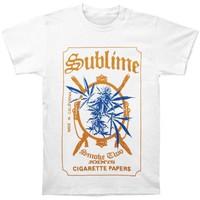 Sublime Men's  Cigarette Paper Slim Fit T-shirt White