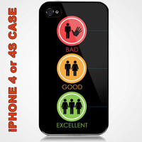Funny Human Couple Custom iPhone 4 or 4S Case Cover
