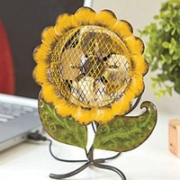 Sunflower Sculpture and USB Fan, Combine Art, Home Decor, Nature, and Comfort in This Eye-catching Complement to Any Home. Just Attach to Your Computer's USB Port, Swivel the Sunflower to Your Desired Angle and Enjoy