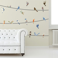 China Birds on a Wire Wall Decals