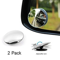 "Blind Spot Mirror, by CarCoo - 2"" Convex Rear View Mirror, Blind side car mirror , Pack of 2"