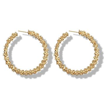 Big Hoop Earrings for Women Vintage Gold Color Round Fashion statement earrings 2018 Female Accessories jewellery