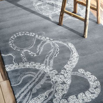 NuLOOM Hand Tufted Octopus Tail Rug Midnight