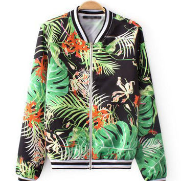 Green Rainforest Print Jacket