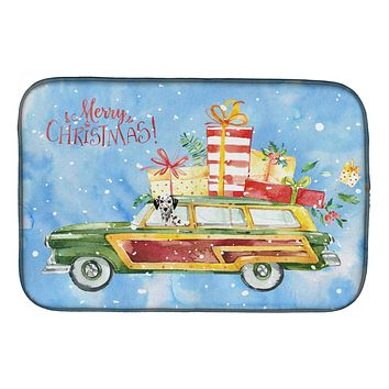 Merry Christmas Dalmatian Dish Drying Mat CK2452DDM