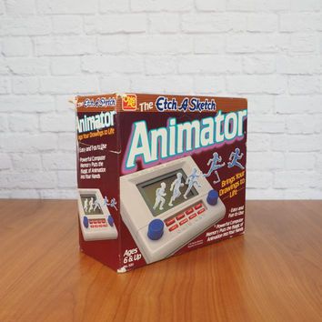 Vintage 1980s Etch-A-Sketch Animator Electronic Toy | Complete with Box and User Manual