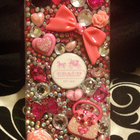 Coach inspired iPhone 4S cell phone case with by Blingccessorize