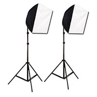 CowboyStudio Photography Photo Studio Video Quick Softbox Lighting Light Kit, 600 Watt Output