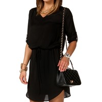 Sale-black Marilyn Collar Tunic