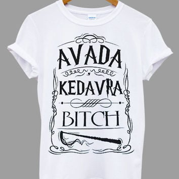 Harry Potter Spell Wizard Avada Kedavra Popular Item on etsy for Funny Shirt, T shirt Mens and T shirt ladies size S, M, L, XL, XXL