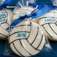 Personalized VOLLEYBALL SUGAR COOKIES ~ 1 dozen (12)