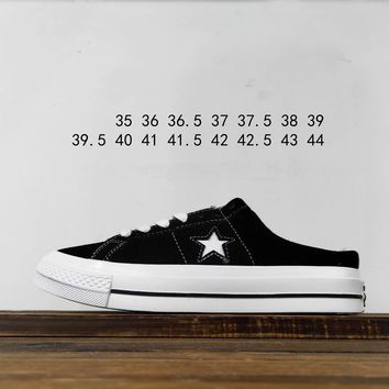 Kuyou Fa19630 Converse Jack Star Bars J Suede Low Top Slippers